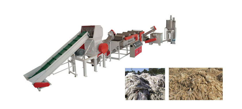 Agricultural film geomembrane cleaning and recycling equipment