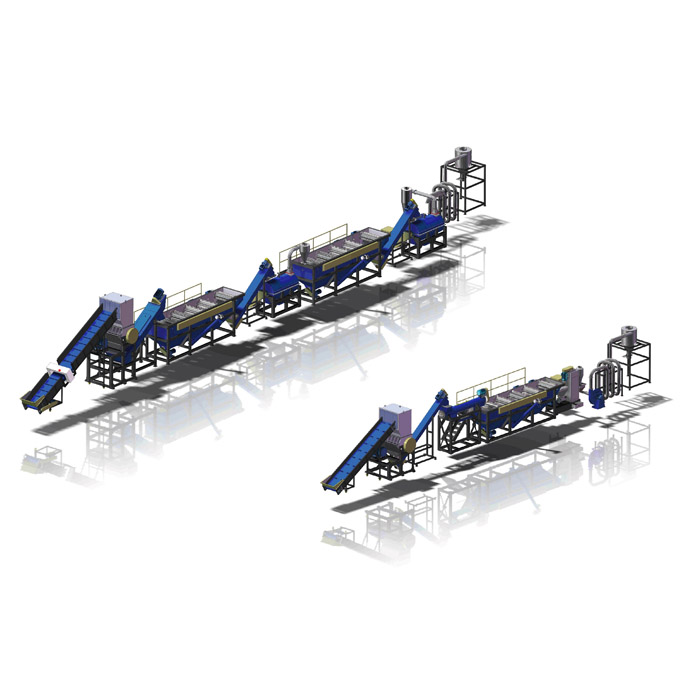 PE Film Cleaning and Recycling Line