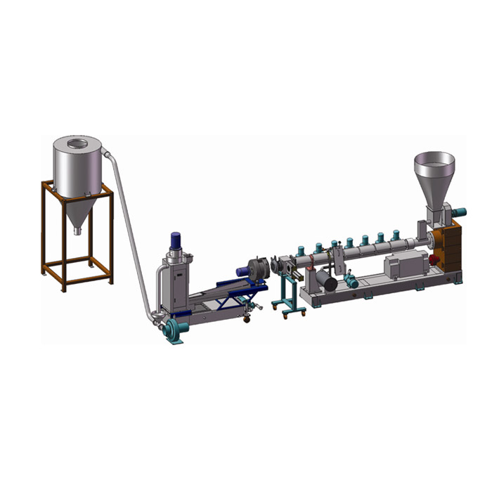 Plastic granulation production line