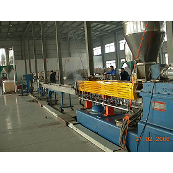 Parallel Twin Screw Extruding String Cutting Granulating Line